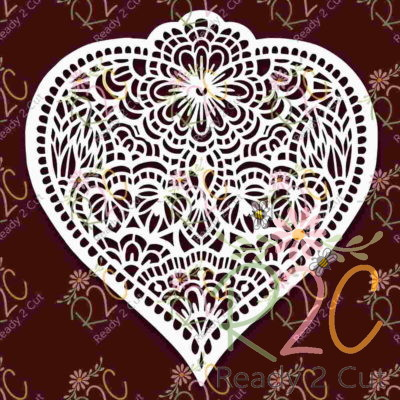 Heart Doodled Intricate Design
