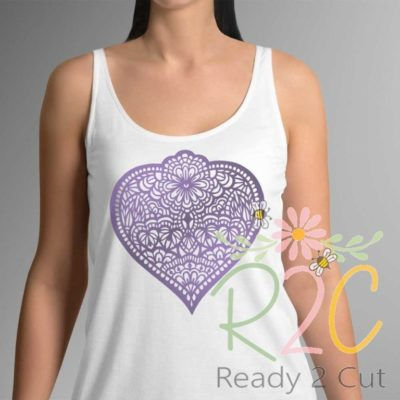 Heart Doodled on a shirt