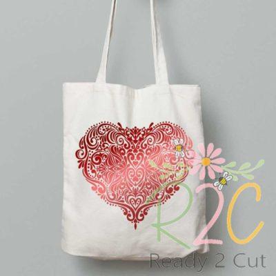 Victorian Heart Intricate design