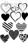 Hearts in lots of styles