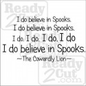 I do believe in Spooks - vinyl ready art