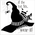 If the hat fits... wear it! Cute witches hate vector download files.