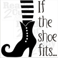 If the shoe fits... cute witch shoe vector image
