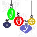 Christmas Ornaments wishing you Joy of the season. Vector images for you to download and create your own masterpiece.