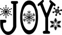 Joy with Snowflakes