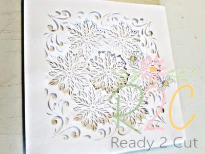 Poinsettia Shadowbox white