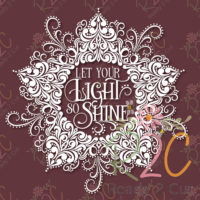 Let your light so shine - swirls