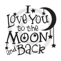 I love you to the Moon and back - vector files to download