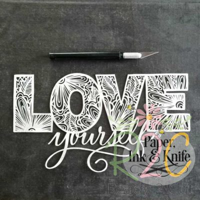 Love yourself papercut design f