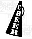 A simple megaphone with the word cheer.