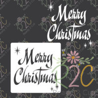 Merry Christmas Glass Block Design