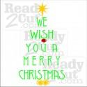 We wish you a merry Christmas #2 Christmas tree shape vector image