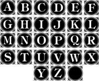Monogram Round vector files - alphabet