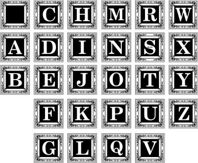 Monogram Square with Decorative Border