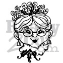 Mrs. Santa vector image download files.