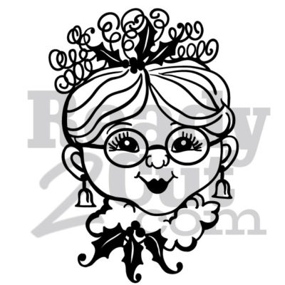 Mrs. Santa vector image download files.