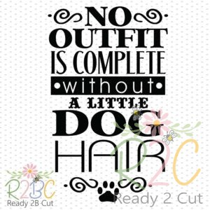 No outfit is complete without a little dog hair.