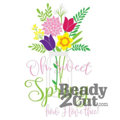 oh sweet spring vector image file download