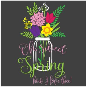 Oh sweet spring vector image download