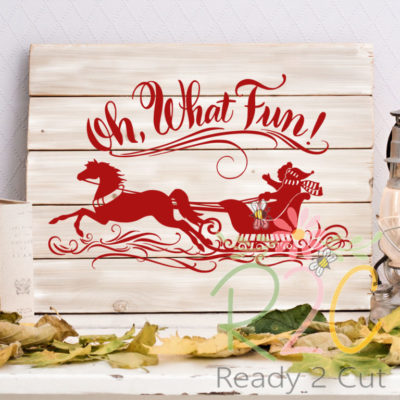 Oh what fun - horse and sleigh