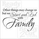 We start and end with family. - vector files for download