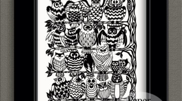 Owls Rookery papercut