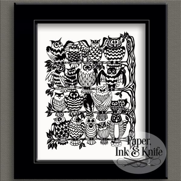 Owls Rookery papercut