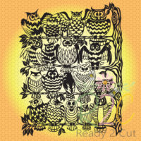 The owls rookery papercut design