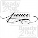 Peace  vinyl ready vector image