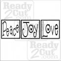 Peace Joy Love - Blocks. - vector files