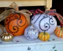 Swirls and dots on a pumpkin. Vector files