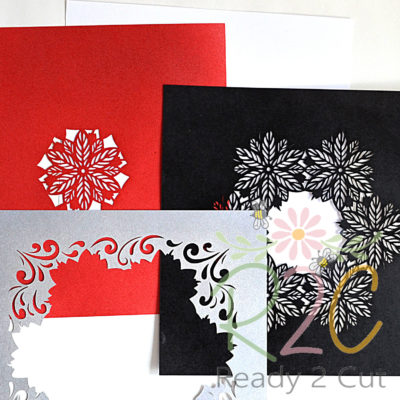 4 layers of poinsettia shadowbox
