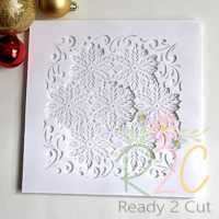 Poinsettia Shadowbox white