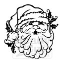 Santa Face, Santa's head. Vector files for download