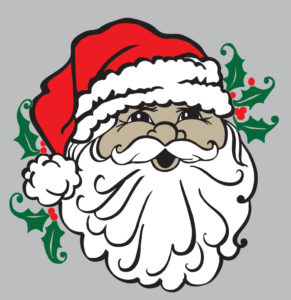 Santa Face Colored digital download