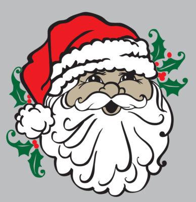 Santa Face Colored digital download
