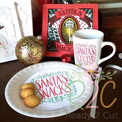 Santa's Cookies, snack, milk and cocoa