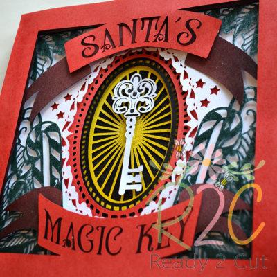 Santa's Magic Key Shadowbox colored detail