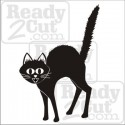 Scaredy Cat vinyl ready vector image