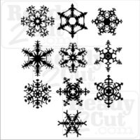 Snowflakes - set of 10 flakes. Sweet vector files for you to cut or print.