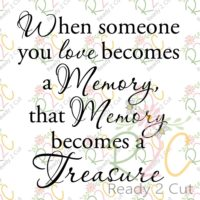 When someone you love becomes a memory