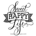 Sweet Happy Life vector image for purchase and download