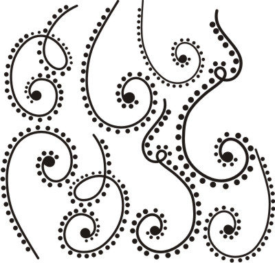 Swirls with dots. decorate your wall or a pumpkin with these vector scrolls