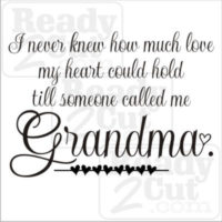 Till someone called me grandma
