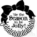 Tis the Season to be Jolly wreath