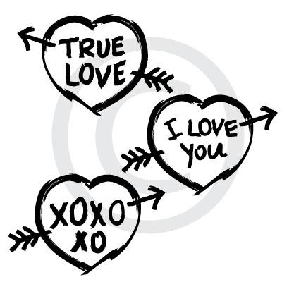 True Love Graffiti vector file download