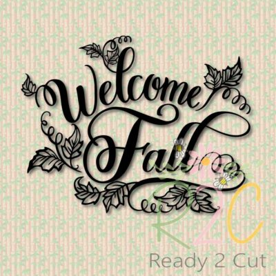 Welcome Fall digital vector download
