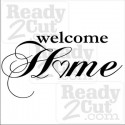 Welcome Home  vinyl ready  vector image