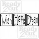 Wish Hope Dream Blocks vinyl ready image