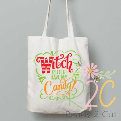 Witch better have candy or coffee treat bag design